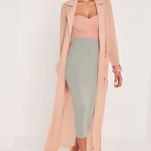 Carli Bybel x Missguided Double Layered Midi Skirt